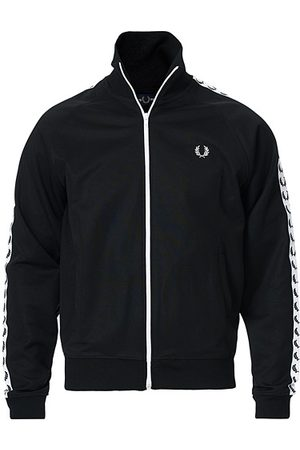 Fred Perry Miehet Takit - Taped Track Jacket Black
