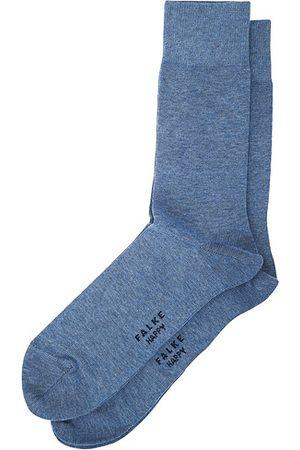 Falke Miehet Sukat - Happy 2-Pack Cotton Socks Light Blue