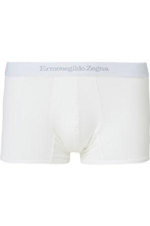 Ermenegildo Zegna Miehet Bokserit - Cotton Stretch Trunk Boxers White