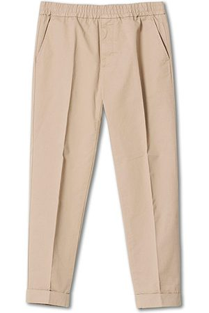 Filippa K Miehet Chinot - Terry Cotton Cropped Turn Up Trousers Desert Taupe