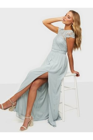 NLY Eve Naiset Juhlamekot - Make Me Happy Gown Dusty Blue