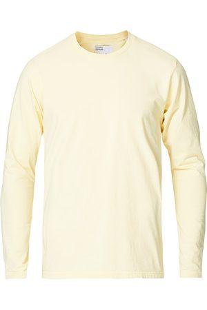 Colorful Standard Miehet T-paidat - Classic Organic Long Sleeve T-shirt Soft Yellow