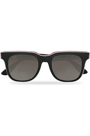 Ray-Ban Miehet Aurinkolasit - RB4368 3-Layered Sunglasses Black/White/Red