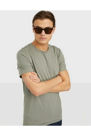 Bread & Boxers Crew-Neck Cotton T-shirt T-paidat ja topit Green