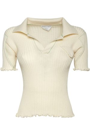 Bottega Veneta Naiset Pikee - Wool Rib Knit Polo Sweater