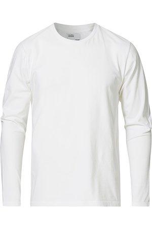 Colorful Standard Miehet T-paidat - Classic Organic Long Sleeve T-shirt Optical White