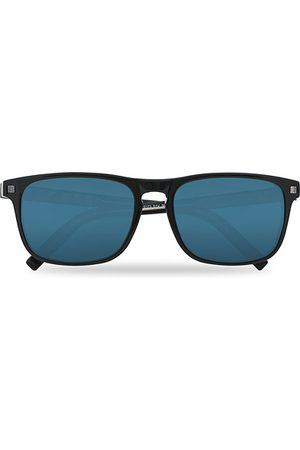 Ermenegildo Zegna EZ0173 Sunglasses Shiny Black/Blue