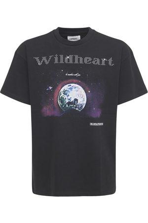 ELEGANTASTE Miehet T-paidat - Cotton Wildheart Printed T-shirt