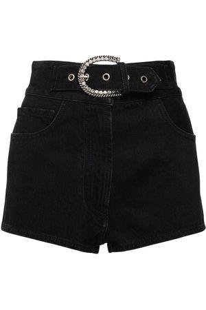 Alessandra Rich Naiset Farkkushortsit - High Waist Cotton Denim Shorts