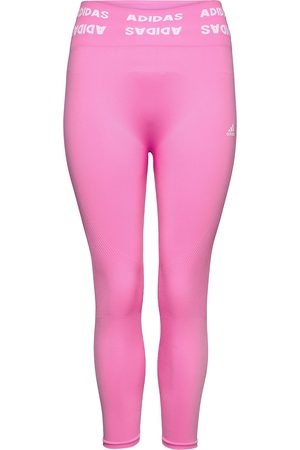 adidas Naiset Leggingsit - Training Aeroknit 7/8 High-Rise Tights W Running/training Tights Vaaleanpunainen