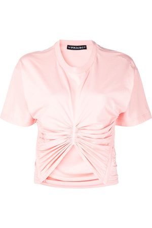 Y / PROJECT Naiset T-paidat - Ruched detail T-shirt