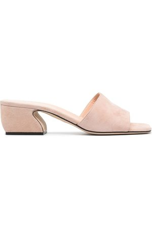 Si Rossi Square-toe heeled sandals