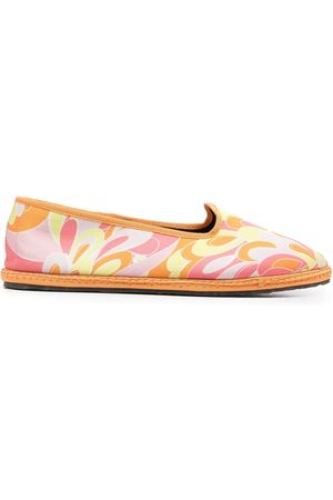 Emilio Pucci Naiset Balleriinat - Lilly-print ballerina shoes