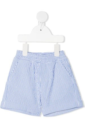 MONNALISA Shortsit - Pinstripe cotton shorts