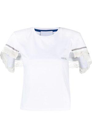 KOCHÉ Lace-trim T-shirt