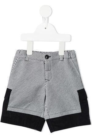 Emporio Armani Stripe-print cargo shorts