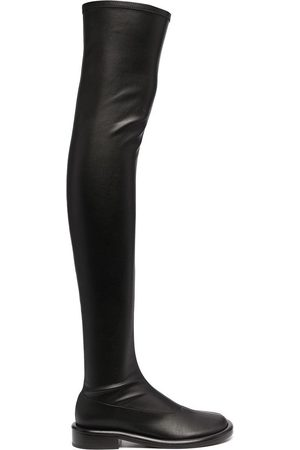 Proenza Schouler Naiset Ylipolvensaappaat - Ruched thigh-high boots