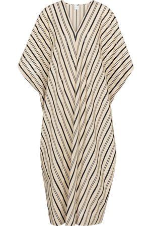 Max Mara Nebbie striped linen-blend kaftan