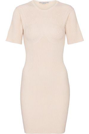 Stella McCartney Ribbed-knit cotton-blend minidress