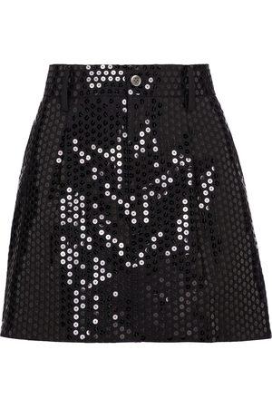 JUNYA WATANABE Sequined wool-blend miniskirt