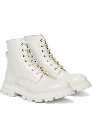 Alexander McQueen Wander leather combat boots