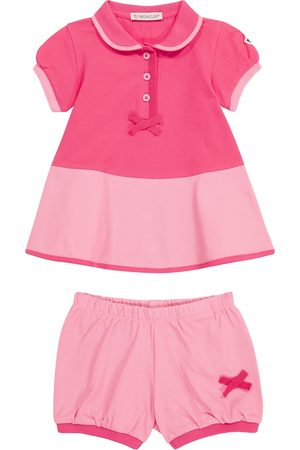 Moncler Setit - Baby stretch-cotton dress and bloomers set