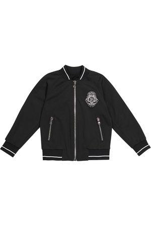Balmain Logo bomber jacket