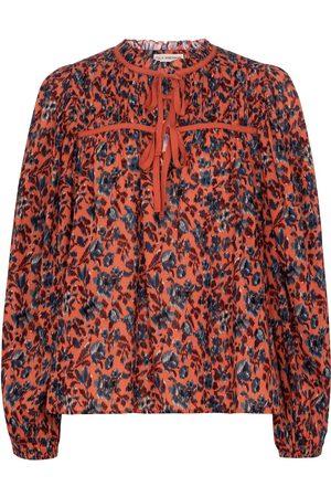 ULLA JOHNSON Jeanne floral cotton blouse