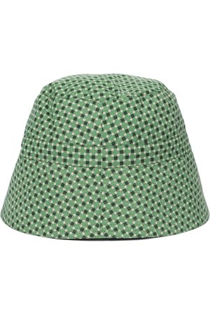 Caramel Hippocampus printed cotton sun hat