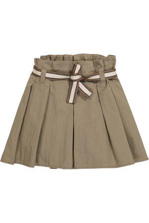 Brunello Cucinelli Belted cotton-blend shorts