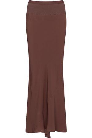 Rick Owens High-rise crêpe maxi skirt
