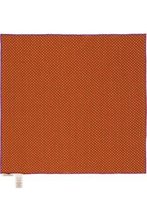 Caramel Treasure polka dot cotton scarf