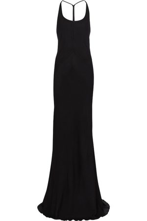 ANN DEMEULEMEESTER Halterneck wool and silk gown
