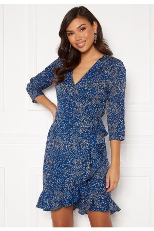 Vero Moda Henna 3/4 Wrap Dress Sodalite Blue S