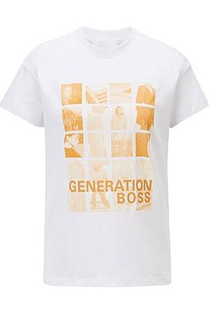 HUGO BOSS Relaxed-fit T-shirt in Recot²® cotton with collection-themed print