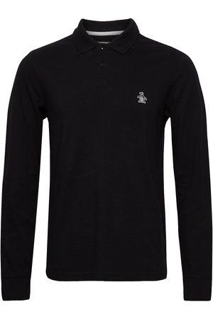 Original Penguin Long Sleeved Raised Rib Polo Shirt Polos Long-sleeved