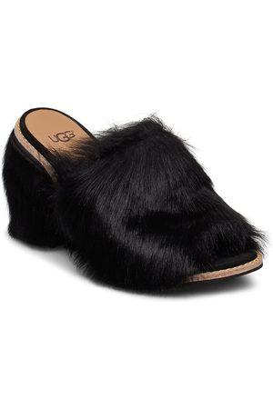 UGG W Rosa Fluff Heel Sandaletit Pistokkaat Vaaleanpunainen