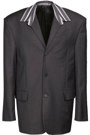Balenciaga Tailored Wool Shirt Jacket