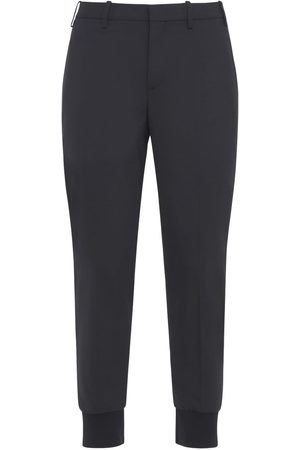 Neil Barrett Slim Stretch Wool Gabardine Blend Pants