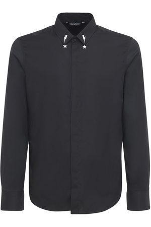 Neil Barrett Starbolt Printed Collar Poplin Shirt