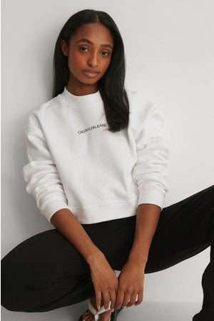 Calvin Klein Naiset Neulepaidat - Lyhyt Neulepusero - White