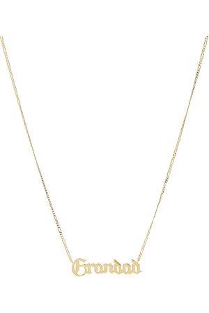 Maria Black Grandad Necklace Accessories Jewellery Necklaces Dainty Necklaces Kulta