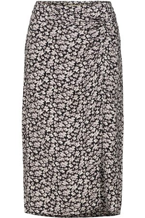 Abercrombie & Fitch Anf Womens Skirts Polvipituinen Hame Ruskea