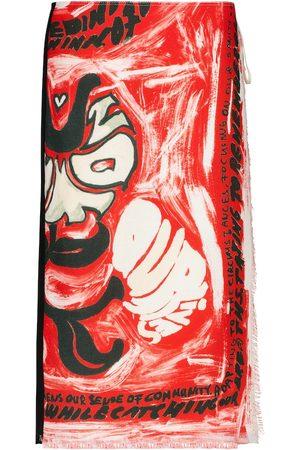 Marni Naiset Printtihameet - Printed wrap skirt