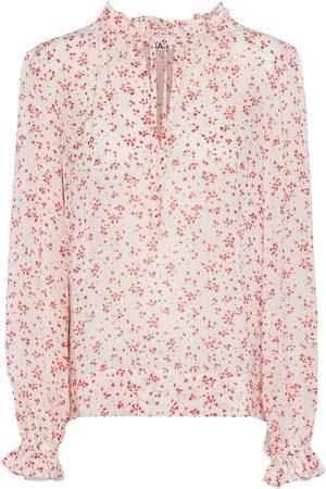 Ganni Naiset Pitkähihaiset - Floral georgette blouse