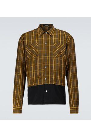 UNDERCOVER Miehet Pitkähihaiset - Checked long-sleeved shirt