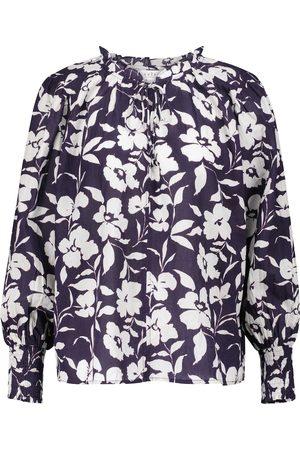 Velvet Naiset Puserot - Anissa floral cotton blouse