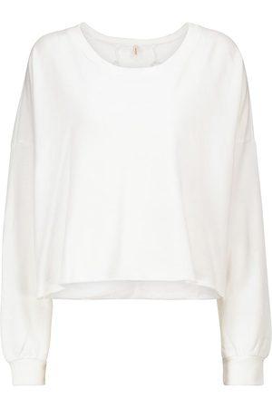 Lanston Naiset Hupparit - Cutout cotton-blend terry sweatshirt