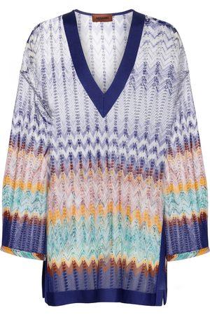 Missoni Naiset Pitkähihaiset - Zig-zag knit kaftan