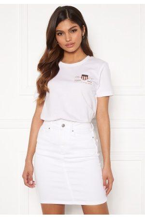 GANT Naiset T-paidat - Archive Shield SS T- Shirt 110 White S